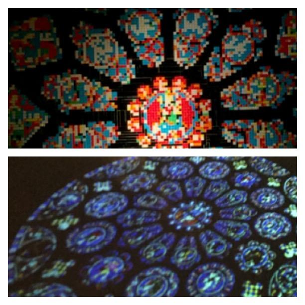 Glasfenster und Lichtschatten