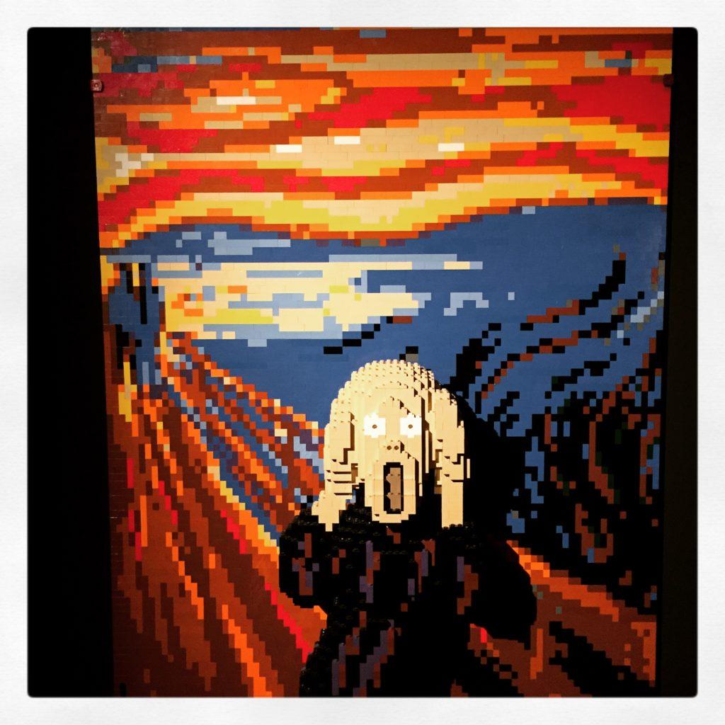 """Lego Munch """"Der Schrei"""""""