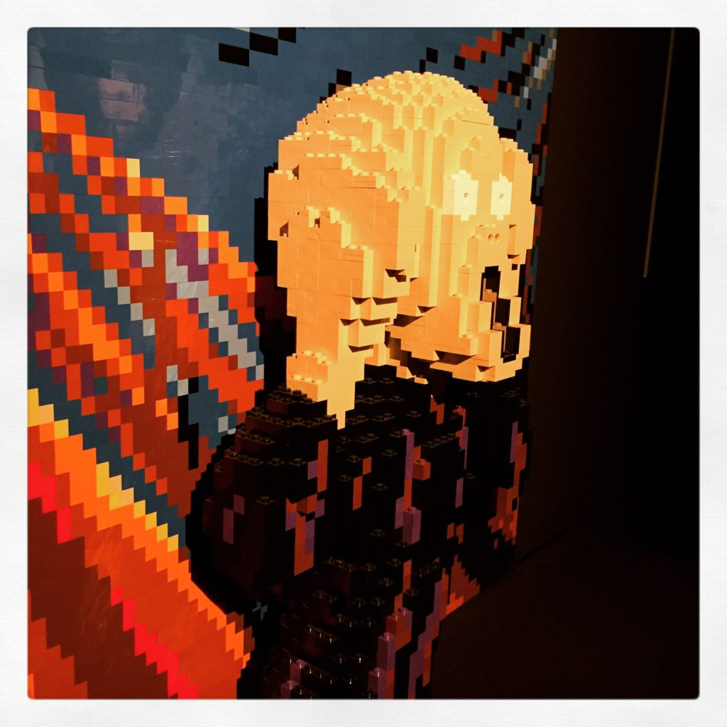"""Lego Munch Seitenansicht """"Der Schrei"""""""