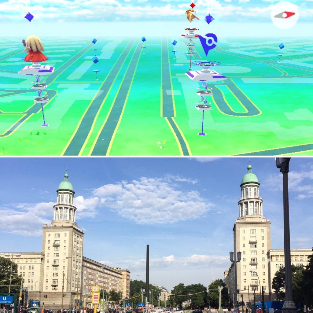 Das Frankfurter Tor ist in Wirklichkeit eine Pokémon Arena