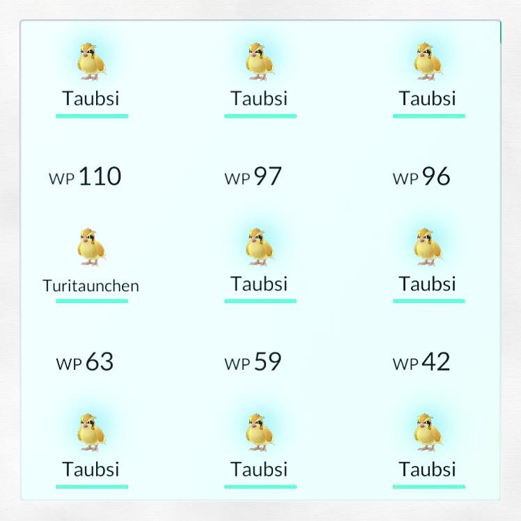 Pokémon Go Erfahrungspunkte durch Evolvieren