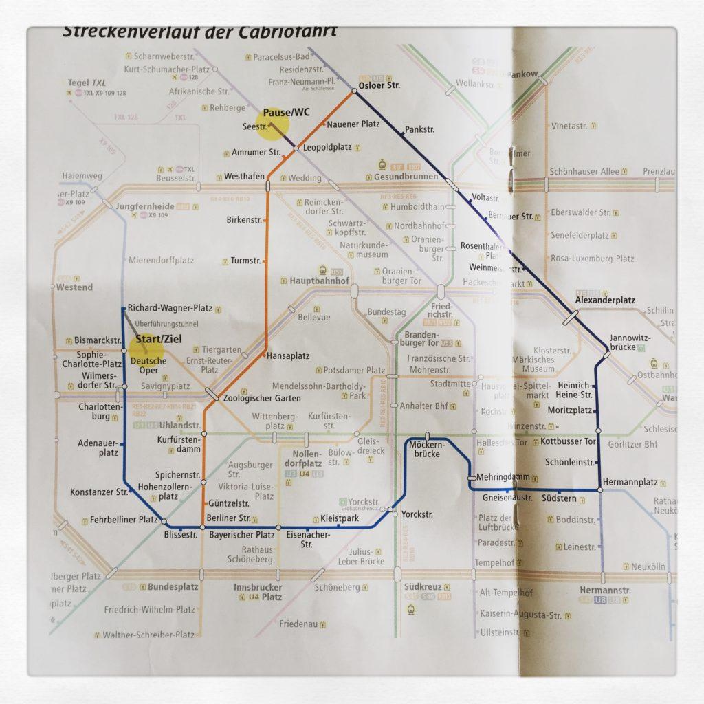 Streckenverlauf der U-Bahn Tunnel-Tour