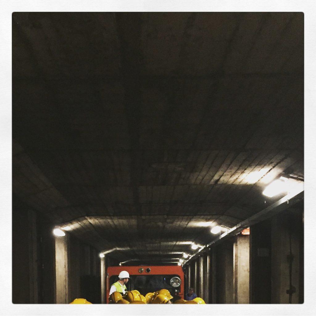 Eckige Tunnel, weil eben nicht gebohrt sondern gegraben wird