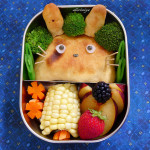 Totoro Calzone Bento, a photo by sherimiya on Flickr.