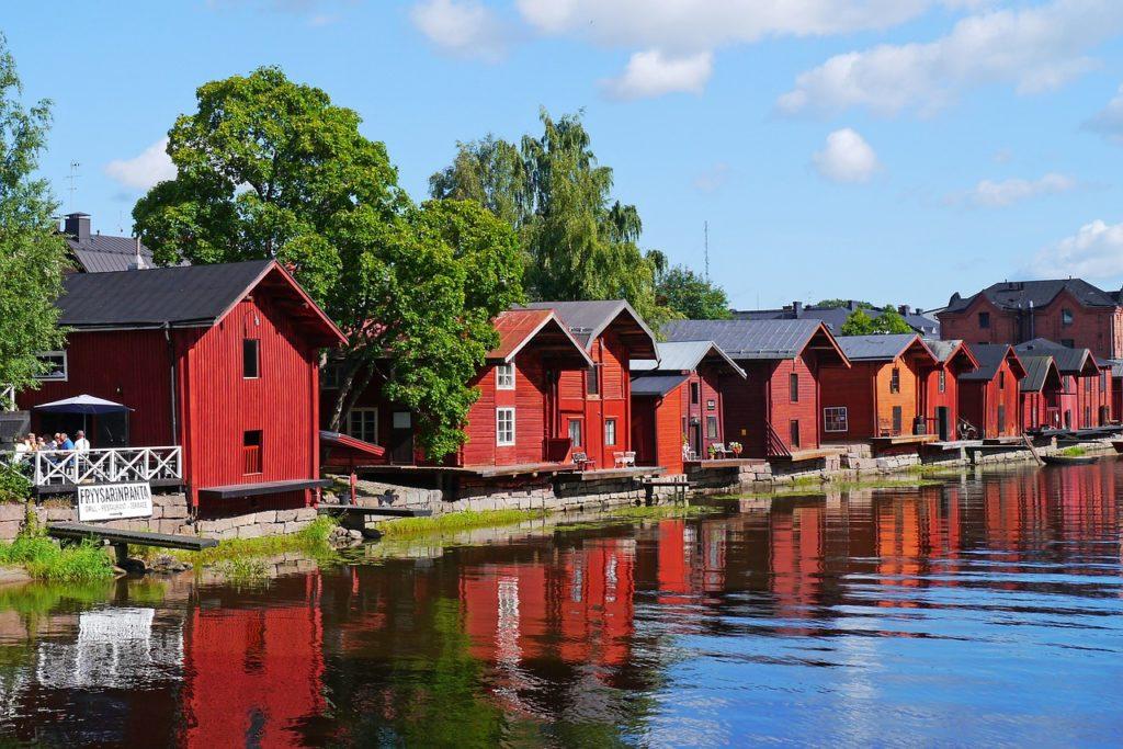Häuschen im skandinavischen Stil